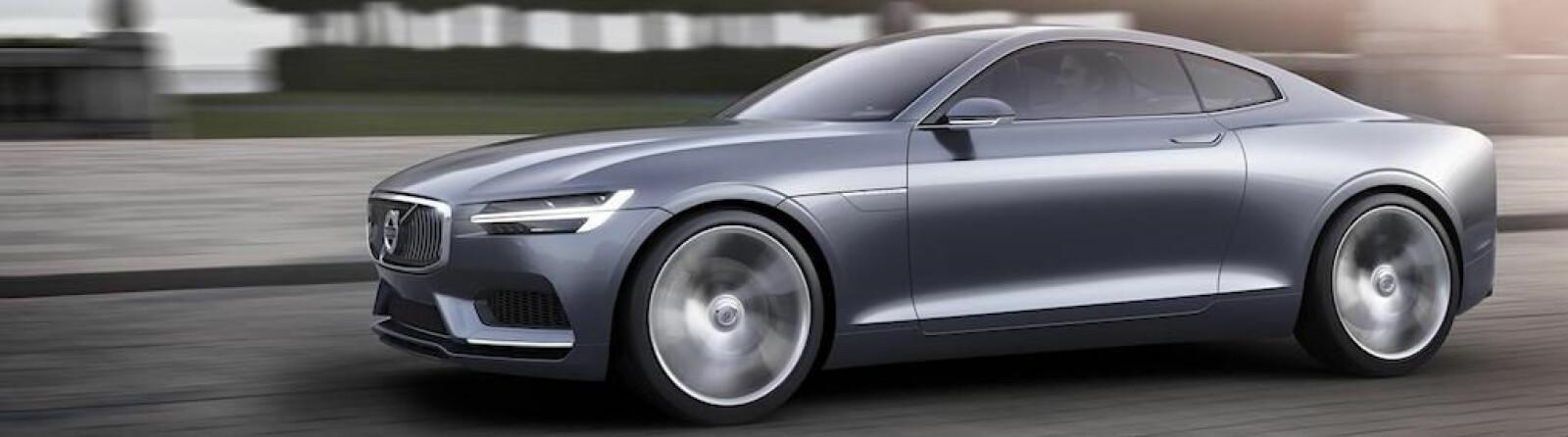 <b><SPAN CLASS=BOLD><STRONG>STILIG:</b></strong> </span>Volvo Concept Coupé fra 2013 var en todørs kupé som mange håpet Volvo ville sette i produksjon. I dag vet vi at dette ble forløperen til Polestar 1.