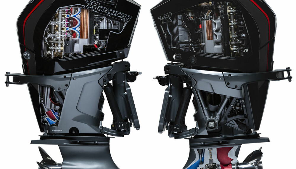 TETTPAKKET: Effektiv plassutnyttelse i den kompressormatede V8-motoren.