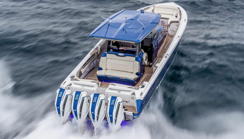 <b>STORE: </b>Sportsbåter med plass til fire-fem motorer er hjemmebane for 450R.
