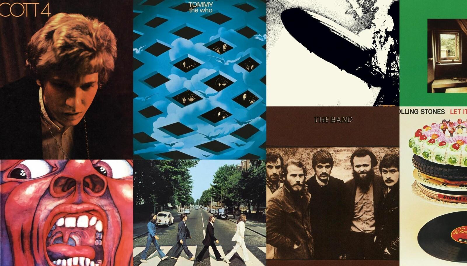 <b>TOPP 10:</b> Disse albumene fra 1969 bør du få med deg.
