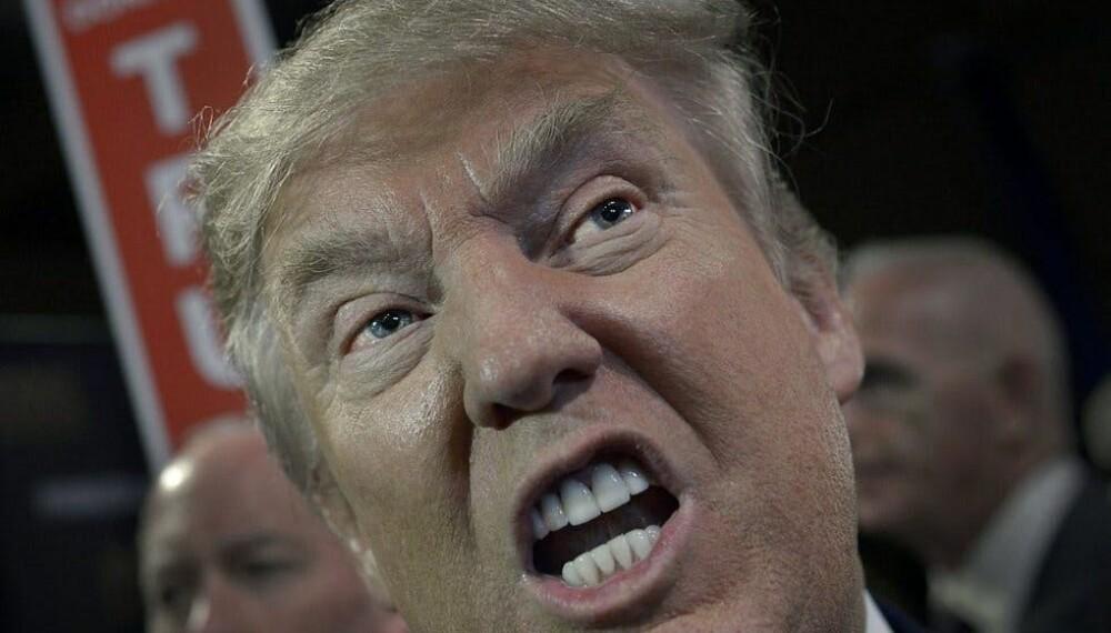<b>IRONI:</b> Det er ikke alltid like lett å vite om Trump er ironisk eller ei.