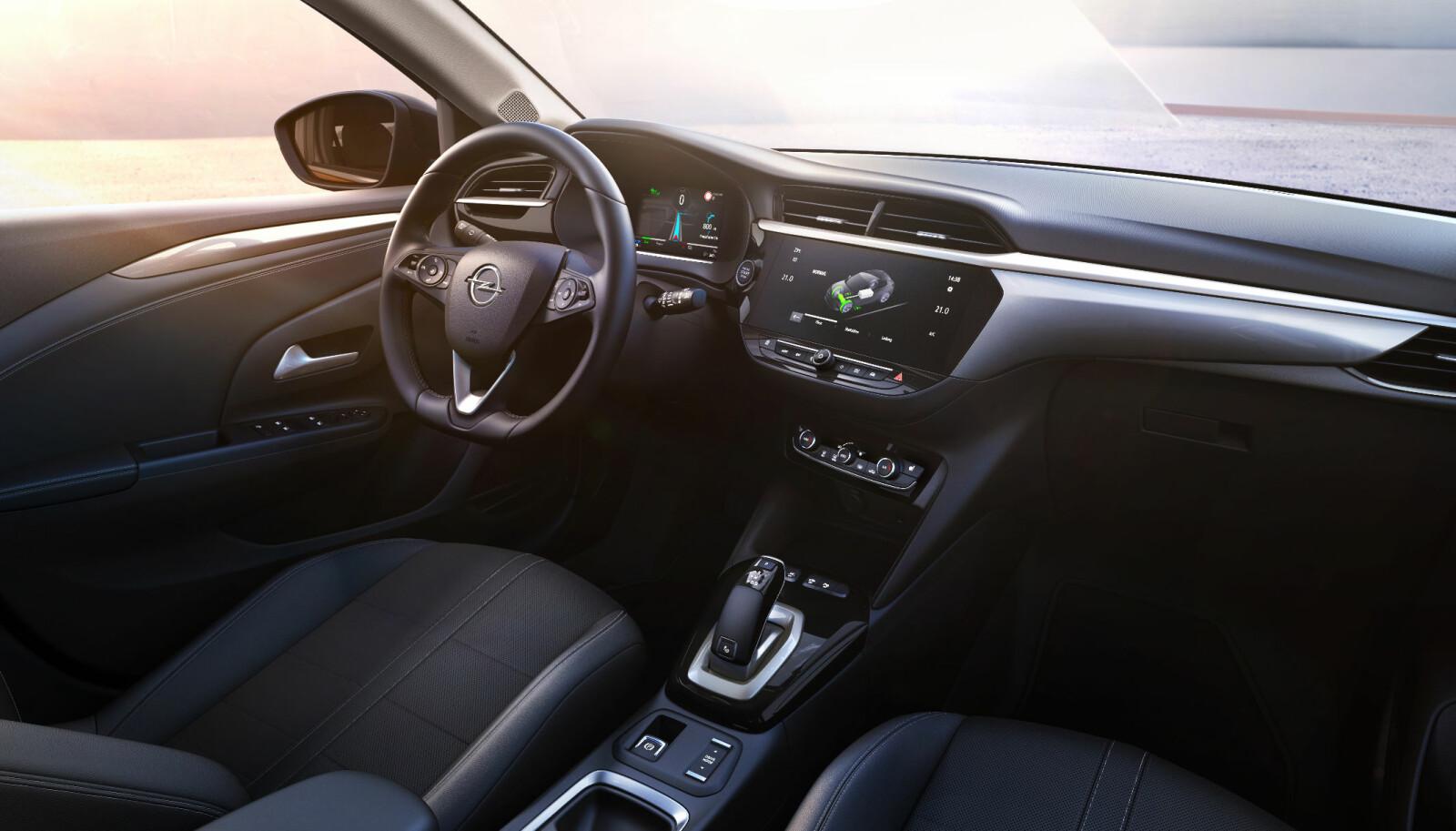 <b>SPORTY:</b> Opel ønsker at Corsa-e skal være en sporty bil å kjøre.