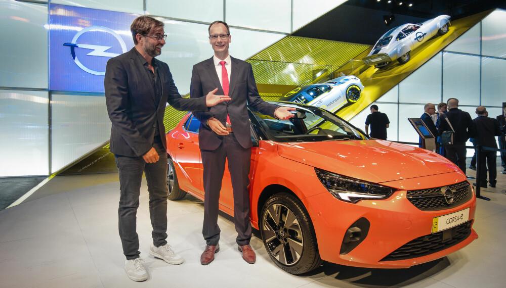 <b>GEGENPRESS:</b> Om Opel Corsa-e blir like bra som Liverpool og trener Jürgen Klopp gjenstår å se, men med en rekkevidde på 330 kilometer bør den ha kapasitet til å stå ganske høyt på banen.
