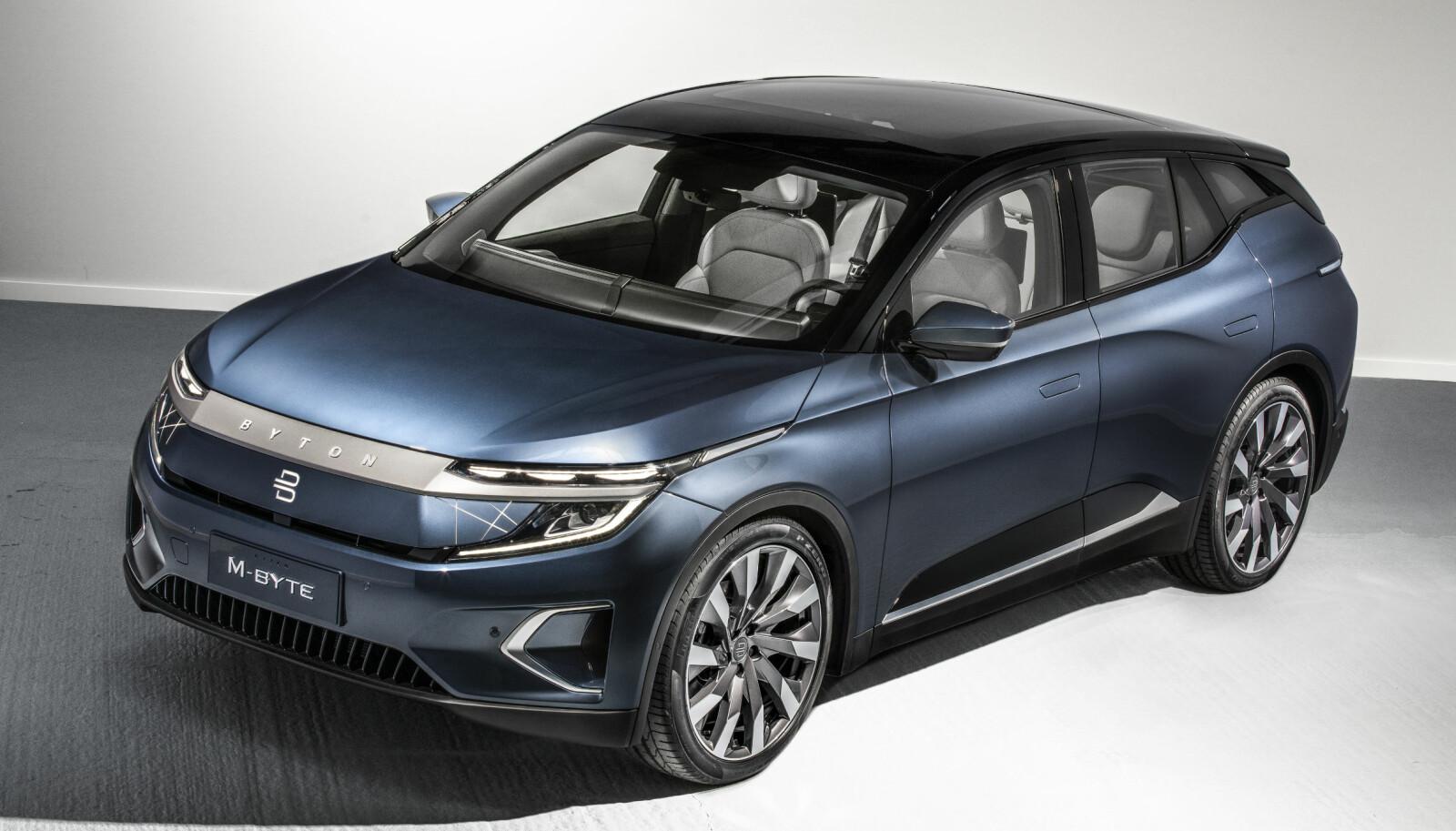 <b>KOMPAKT:</b> Byton M-Byte er omtrent like lang og bred som Audi e-tron.